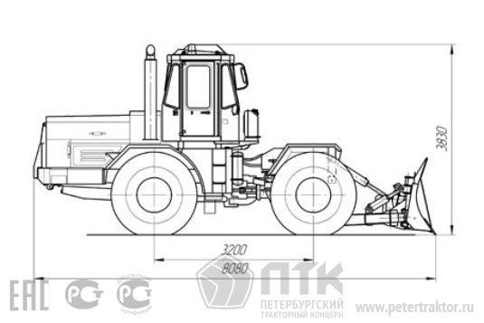 Схема грейдера К-703 МА ДМ-15